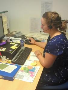 Helpline Officer at work  © Bat Conservation Trust