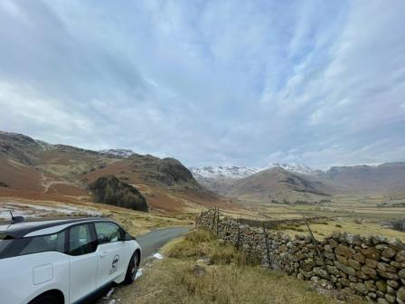 car parked looking out over mountains (Lake District National Park Authority)