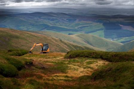 Peatland restoration in cheviots by Northumberland National Park Authority