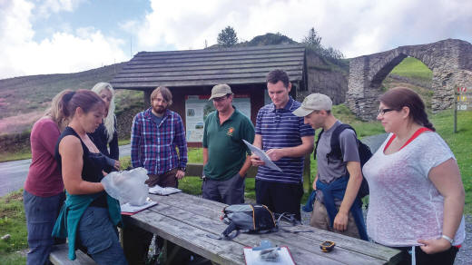Volunteers about to start a scat survey (image: VWT)