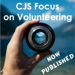 Image: CJS Focus on Volunteering - now published