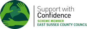 Logo: East Sussex Support with Confidence Scheme Member