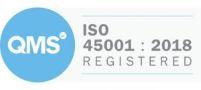 Logo: QMS ISO 45001 : 2018 Registered