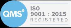 Logo: QMS ISO 9001 : 2015 Registered