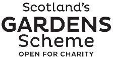 Logo: Scotland's Gardens Scheme - open for charity