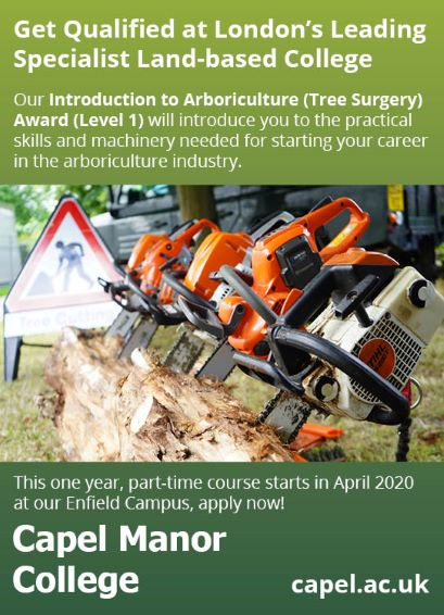 Introduction to Arboriculture (Tree Surgery) Award (Level 1) at Capel Manor College